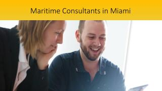 Maritime Consultants in Miami