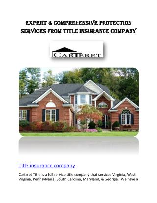 Old Republic Title Insurance | Carteret Title