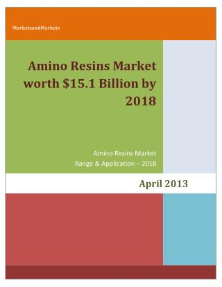 Amino Resin Market - by Types (Urea Formaldehyde, Melamine Formaldehyde, Melamine Urea Formaldehyde), Applications (Part