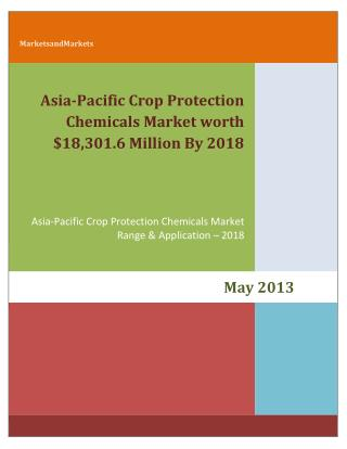 Asia-Pacific Crop Protection Chemicals Market by Types (Herbicides, Fungicides, Insecticides, Bio-pesticides and Adjuvan
