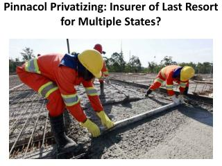 Pinnacol Privatizing  Insurer Of last Resort For Multiple States