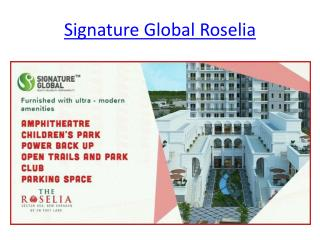 Signature Global The Roselia Affordable Project  sector 95a Gurgaon