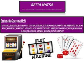 Satta Matka Gambling