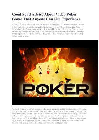 Simple Tips and Tricks to Help You Hit New Online Poker Game High