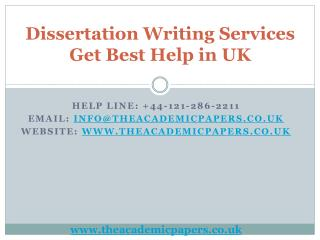 Dissertation Writing Services - Get Best Help in UK
