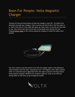 Volta Magnetic Charger