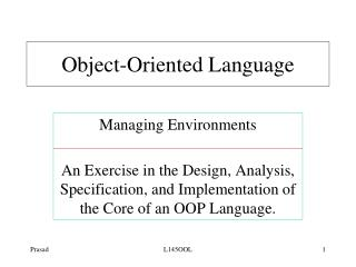 Object-Oriented Language