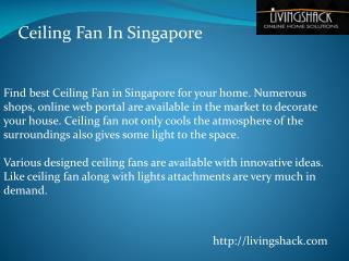 Ceiling Fan in Singapore