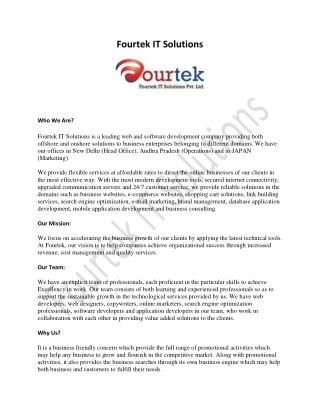 Website Design Services - Fourtek