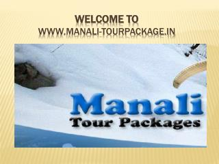 Manali tour package | tour packages to manali
