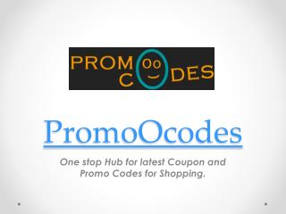 PromoOcodes Online Shopping Coupons