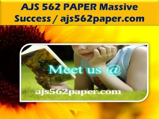 AJS 562 PAPER Massive Success / ajs562paper.com