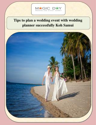 Tips to plan a wedding event with wedding planner successfully Koh Samui