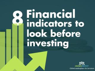8 financial indicators to consider before investing