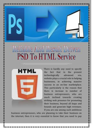 Psd To Xhtml Service