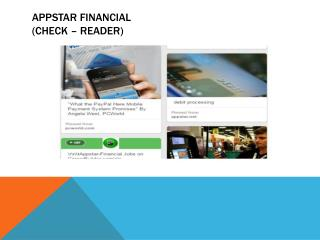 Appstar Financial ! Leading In Electronic Payment