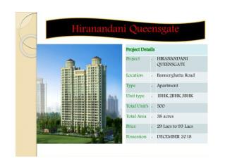 Affordable Apartments in Bangalore | Call: ( 91) 9953 5928 48 Hiranandani Queensgate