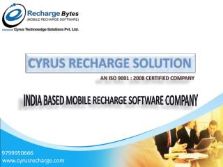 Cyrus Recharge Solutions - Mobile  Recharge Software Development Company in India