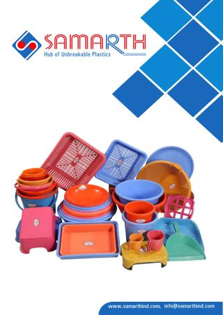 Manufacturer and Supplier of Plastic Products - Samarth Industries