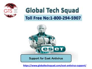 Eset NOD32 Antivirus support Toll Free: 1-800- 294-5907 US