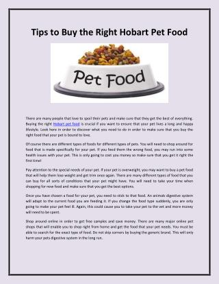 Hammond Pet Food