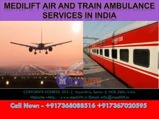 Welcome to Medilift Air and Train Ambulance Services in Bagdogra, Lucknow and Hyderabad