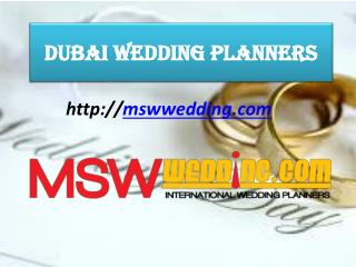 dubai wedding planners