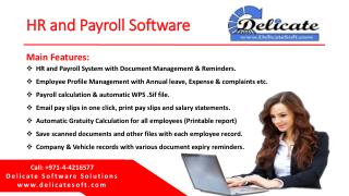 HR Payroll Software in Dubai