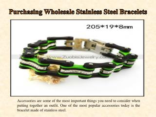 Purchasing Wholesale Stainless Steel Bracelets