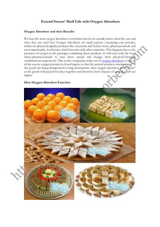 Extend Sweets' Shelf Life with Oxygen Absorbers