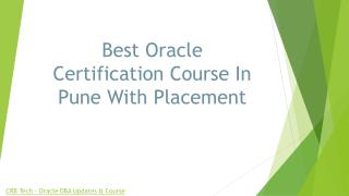 Best Oracle Certification Course In Pune With Placement