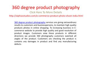 360 degree product photography