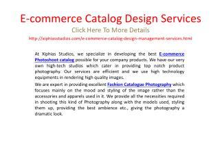 E-commerce Catalog Design Services