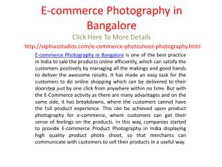 E-commerce Photography in Bangalore