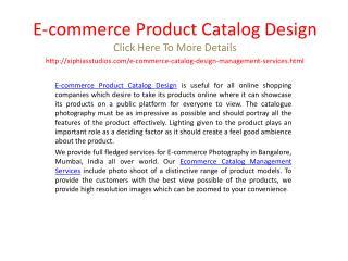 E-commerce Product Catalog Design