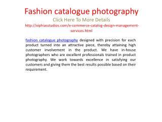 Fashion catalogue photography