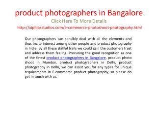 product photographers in Bangalore