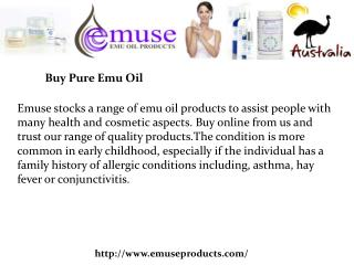 Buy Pure Emu Oil
