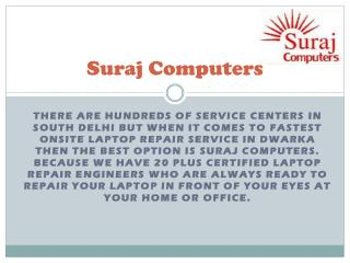Laptop Repair in Dwarka - Suraj Computers