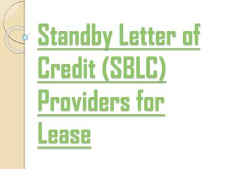 The Hanson Group Of Companies: SBLC Providers For Lease
