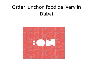 Lunch On: Delicious food just an SMS away