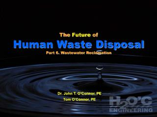 The  Future  of  Human Waste Disposal Part 6. Wastewater Reclamation