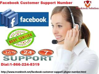 Dial Facebook Customer support Number 1-866-224-8319 Now and get best solution