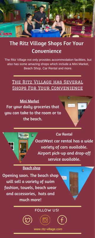 The Ritz Village | Shops for your Convenience