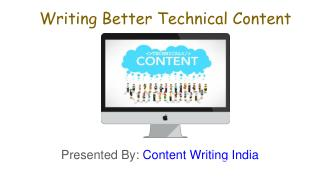 Writing Better Technical content