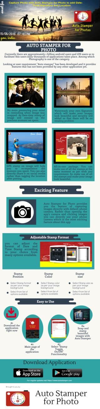 Make your images memorable with Auto Stamper for Photo