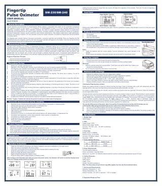Santamedical SM-230 OLED Finger Pulse Oximeter