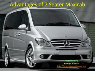 Advantages of 7 seater Maxicab