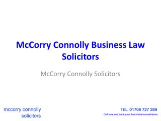 McCorry Connolly Business Law Solicitors