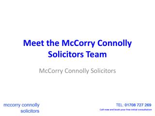 McCorry Connolly Solicitors Romford Team